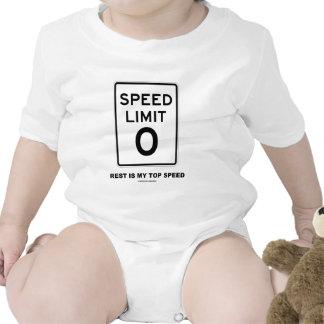 Speed Limit Zero Rest Is My Top Speed Sign Bodysuits