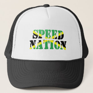 Speed Nation Jamaican Flag Trucker Hat
