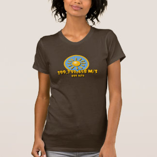 Speed of Light Sun in Blue Circle Tshirt