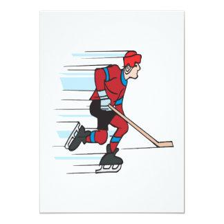 Speed Skater 13 Cm X 18 Cm Invitation Card