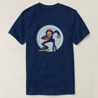 Speed Skater Anime Style Illustration Winter Games T-Shirt