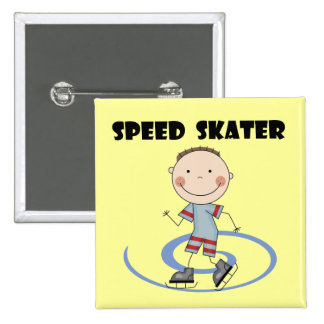 Speed Skater - Boy Tshirts and Gifts 15 Cm Square Badge