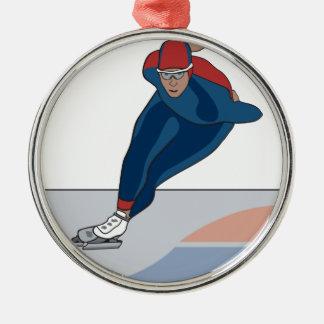speed skater christmas ornament