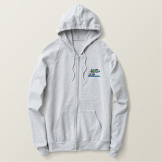 Speed Skater Embroidered Hoodie
