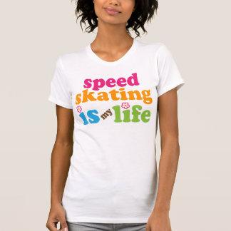 Speed Skater Gift Girls T Shirt