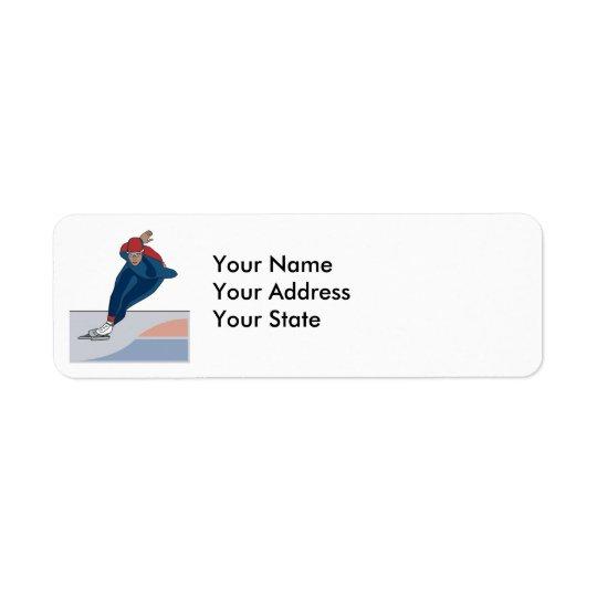 speed skater return address label
