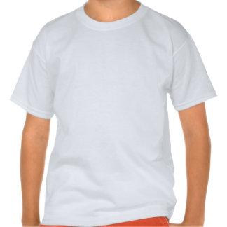 Speed Skater; Scarlet Red Stripes T Shirts