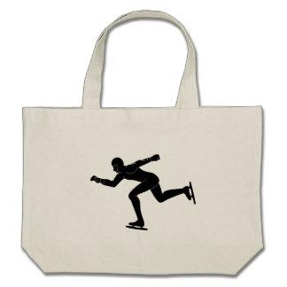 Speed Skater Silhouette Bags