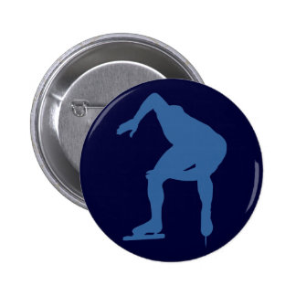 Speed Skater Silhouette Buttons Buttons