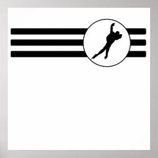 Speed Skater Stripes Poster