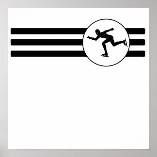 Speed Skater Stripest Poster