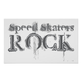 Speed Skaters Rock Posters