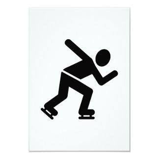 """Speed skating 3.5"""" x 5"""" invitation card"""