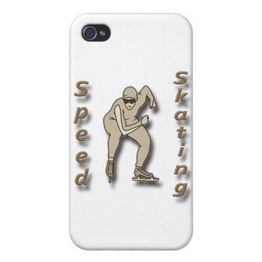 Speed Skating brown iPhone 4/4S Covers