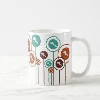 Speed Skating Daisies Coffee Mug