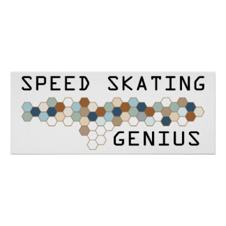 Speed Skating Genius Print