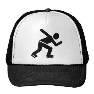 Speed skating hats