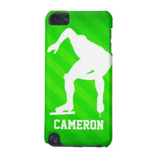 Speed Skating; Neon Green Stripes iPod Touch (5th Generation) Case