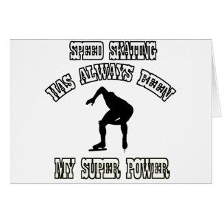 SPEED SKATING sports designs Greeting Card