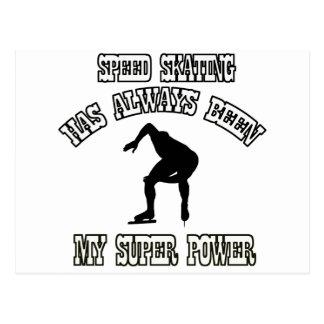 SPEED SKATING sports designs Postcard