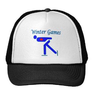 Speed Skating Winter Games Trucker Hats