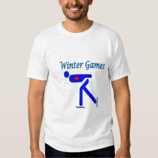 Speed Skating Winter Games T Shirts