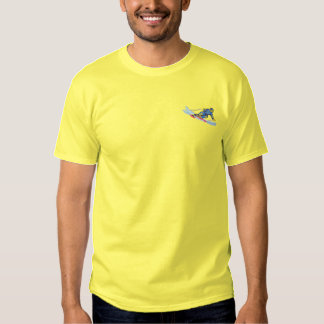 Speed Skier Embroidered T-Shirt