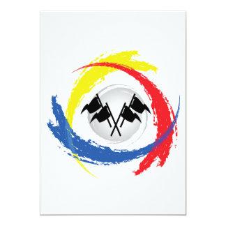 Speed Tricolor Emblem 13 Cm X 18 Cm Invitation Card