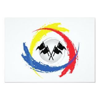 "Speed Tricolor Emblem 5"" X 7"" Invitation Card"