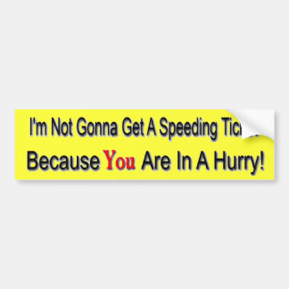 Speeder Bumper Sticker
