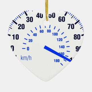 Speeding Ceramic Heart Decoration
