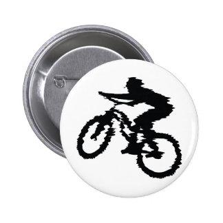 SPEEDING MOUNTAINBIKER BICYCLES MOUNTAIN-BIKES 6 CM ROUND BADGE