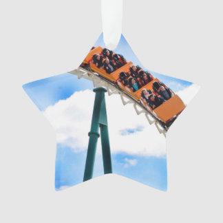 Speeding Orange Roller Coaster