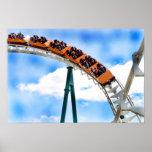 Speeding Orange Roller Coaster Posters