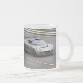 Speeding Sports Car Frosted Glass Mug