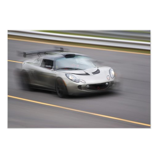Speeding Sports Car Photo