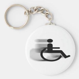 Speeding Wheelchair Keychain
