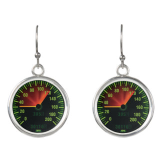 Speedometer Design Drop Earrings