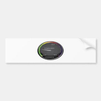 Speedometer graphic design bumper sticker