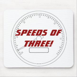 Speeds of THREE Mousepad