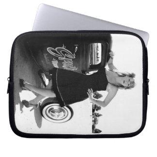 Speeds Pin Up Girl Hot Rod iPad Laptop Sleeve