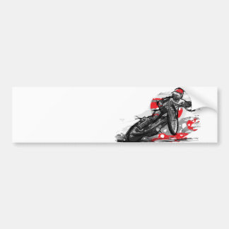 Speedway Flat Track Motorcycle Racer Bumper Sticker