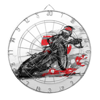 Speedway Flat Track Motorcycle Racer Dartboard