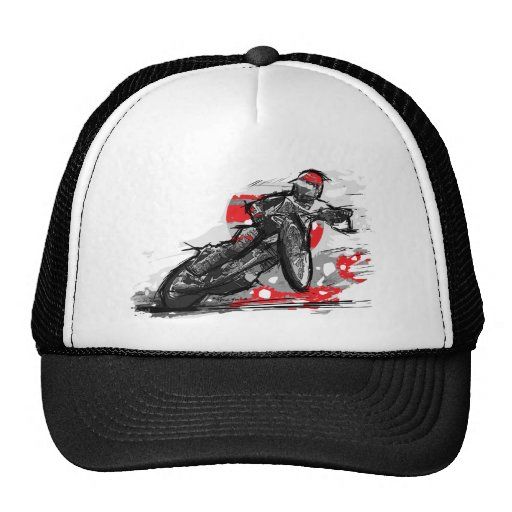 Speedway Flat Track Motorcycle Racer Mesh Hats