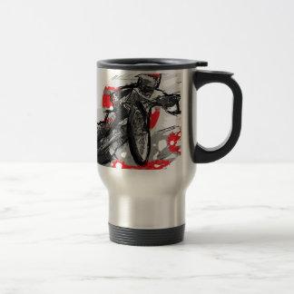Speedway Flat Track Motorcycle Racer 15 Oz Stainless Steel Travel Mug