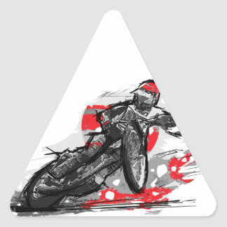 Speedway Flat Track Motorcycle Racer Sticker