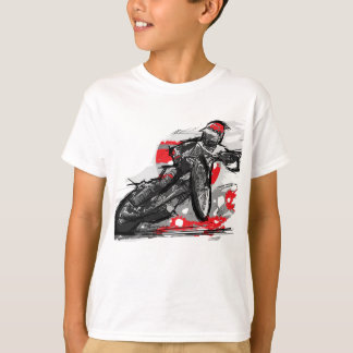 Speedway Flat Track Motorcycle Racer T Shirts