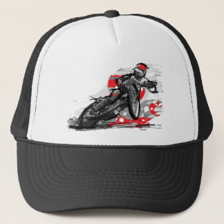 Speedway Flat Track Motorcycle Racer Trucker Hat