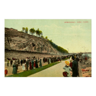 Speedway, New York City, 1910 Vintage Poster