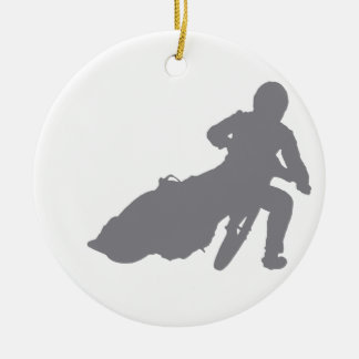 SPEEDWAY STAR (grey) Christmas Ornament